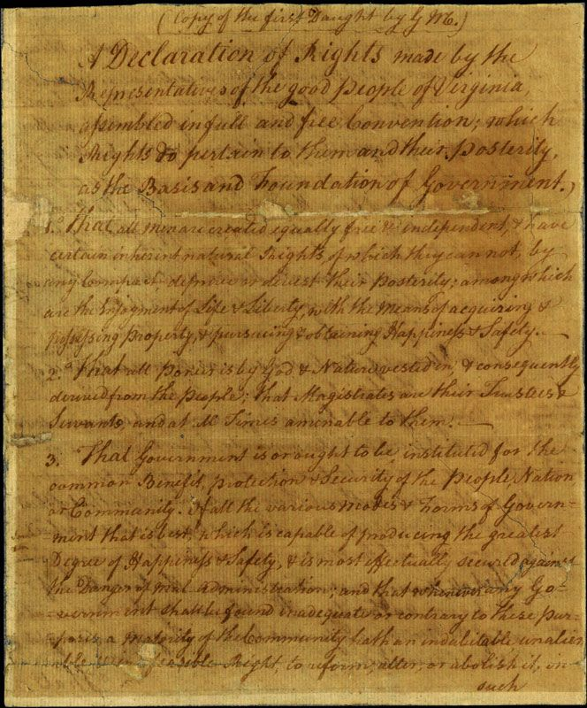The Declaration of the People of Virginia