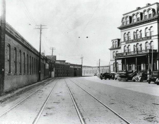 National Hotel at the Stockyards in National City circa 1920